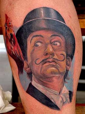 Robert plays artist Salvador Dalí in upcoming film Little Ashes tattoo