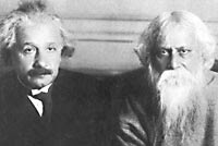 Einstein with poet Rabindranath Tagore
