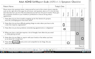 Adhd adult self test