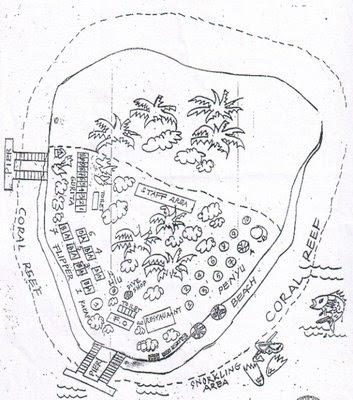 Peta Pulau Sepa Pulau Seribu Resort