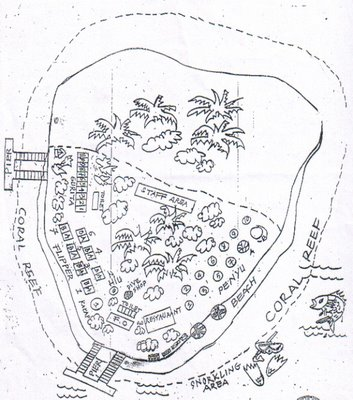 Gambar peta fasilitas Pulau Sepa Pulau Seribu