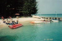 Watersport, Pantai di Pulau Sepa