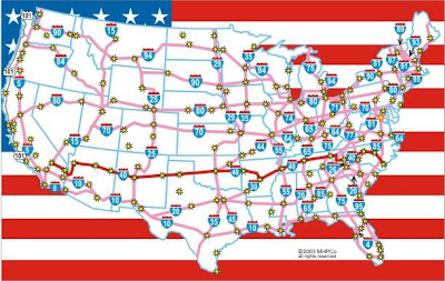 The Secret History This Week In The Secret History Eisenhower - Map of interstate highway system in us