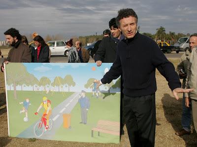 Mauricio Macri en el Parque Indoamericano (14-6-5007)