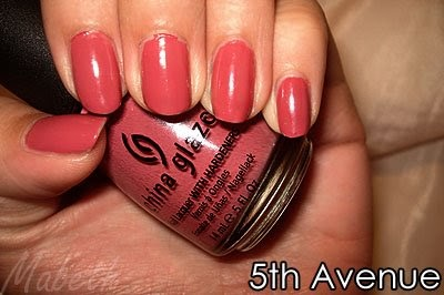 Mabeth 39 s makeup nails china glaze fifth avenue for 5th ave nail salon