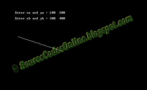 Implementation Of Line Drawing Algorithm : Implementation of dda line drawing algorithm cs