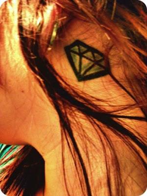 small diamond tattoo on neck best tattoo designs for girls