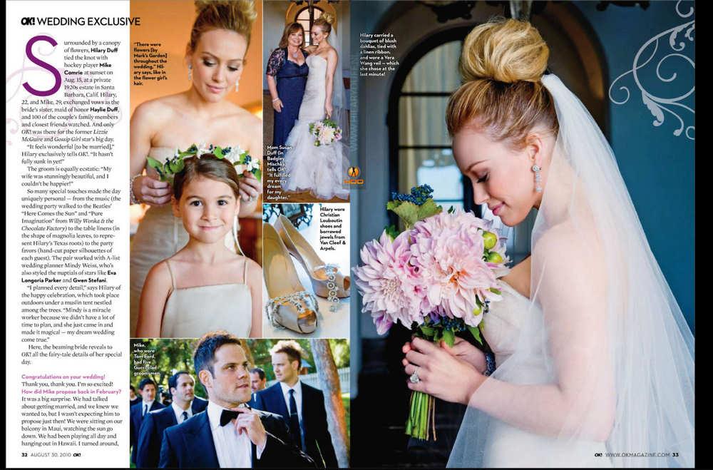 Hilary Duff Wedding Snaps pics in \'Ok\' Magazine ~ Mila Kunis