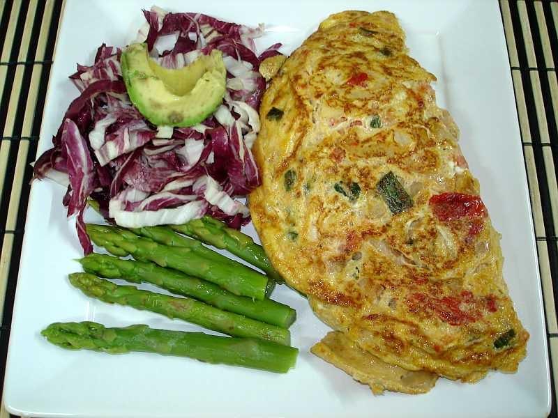 Las recetas de silvia hoy vamos a cenar f cil omelette rellena - Almuerzo rapido y facil ...