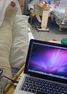 My Mac and me from my hospital bed