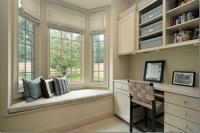 home office window bench Bancos de Janela ou Bay Window ou ainda Window Seats
