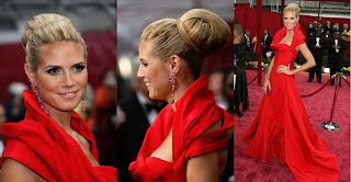 HeidiKlum Oscars 2008 Red Carpet Recap