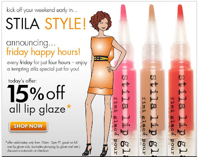 stila+friday+happy+hours Stila Happy Hours: Take 15% Off Lip Glaze