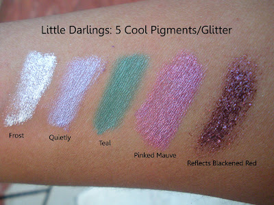 mac+little+darlings+pigments+glitter MAC Ungaro, Cremesheen and Holiday Swatches