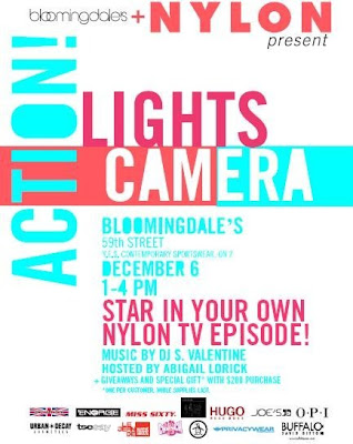 "bloomies+and+nylon Nylon Magazine & Bloomingdales Present ""Lights, Camera, Action"""