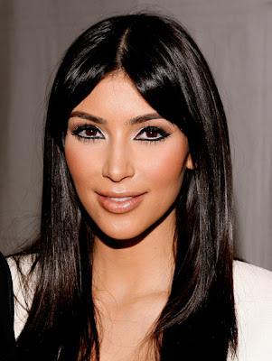 kim kardashian makeup New York Fashion Week: Kim Kardashian Takes A Bite Outta The Big Apple