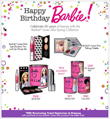 stila+barbie+birthday Its Barbies 50th Birthday, But YOU Get A Present...From Stila!