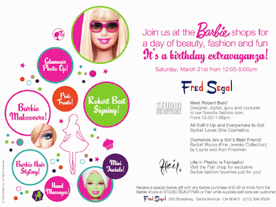 barbie+event+at+fred+segal Barbies Birthday Extravaganza with Stila at Fred Segal!