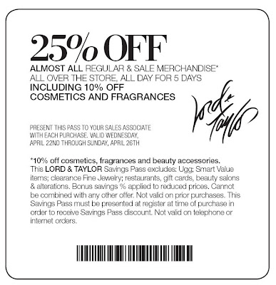 LORD AND TAYLOR COUPONS CODES