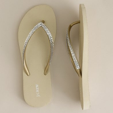 J+Crew+Metallic+mesh+flip flops Flat Out Fabulous