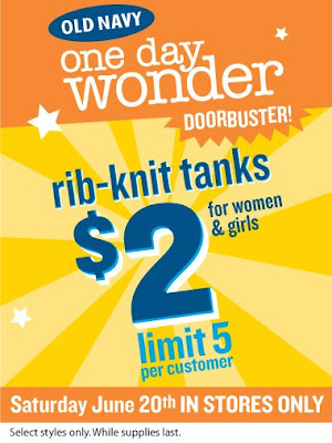 old+navy+2+dollar+tanks Old Navy $2 Tanks: Saturday, June 20