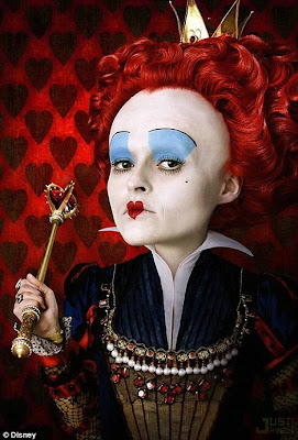 helena+bonham+carter+alice+in+wonderland+movie The Fantastical Makeup of Tim Burtons Alice In Wonderland Movie