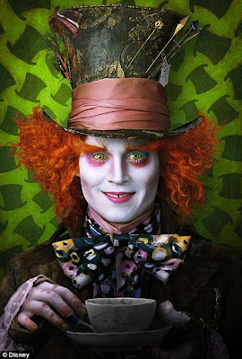 johnny+depp+alice+in+wonderland+movie The Fantastical Makeup of Tim Burtons Alice In Wonderland Movie