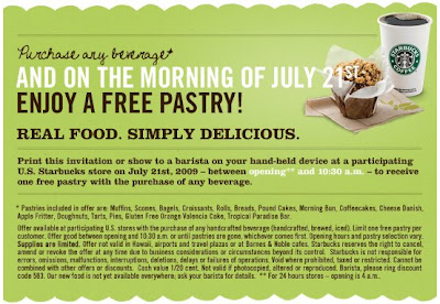 free+starbucks+pastry Free Pastry Day at Starbucks