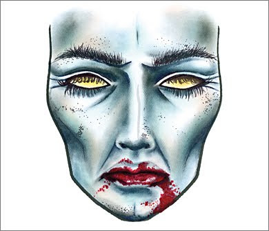 4 FrF ZombieBleu MAC Halloween Face Charts 2009: Drop Undead Gorgeous
