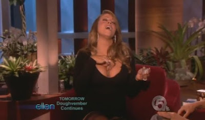 mariah+applying+perfume Mariah Schools Ellen On How To Apply Fragrance