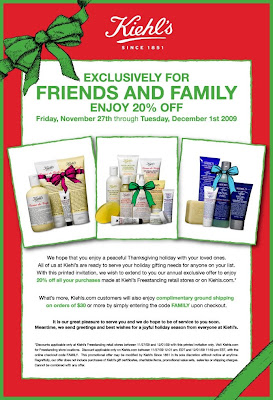 kiehls+friends+and+family+2009 Kiehls Friends and Family: 20% Off