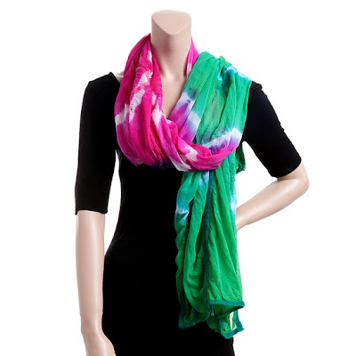 Raj SIlk Tie Dye scarf Dont Miss the Ideeli Red Sales This Week!!!