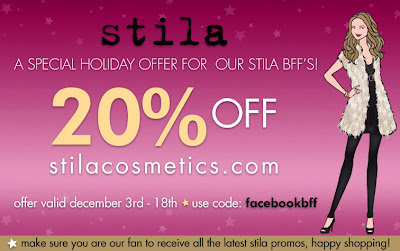 stila+BFF+code Special BFF Stila Code for 20% Off