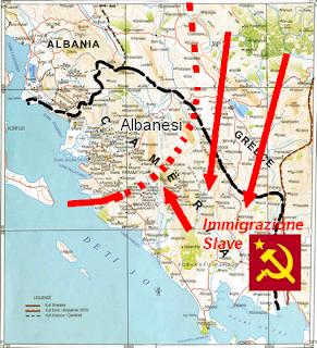 I cham vennere cacciati dalla Grecia (slavizzata) perche erano amici degli italiani
