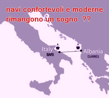 Le navi che collegano Puglia Albania
