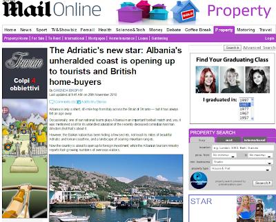 Daily Mail : Albania la nuova stella dell'Adriatico per case