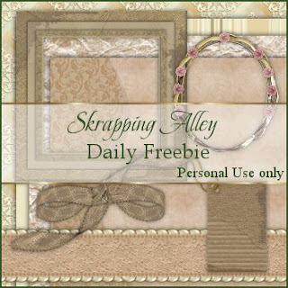 http://skrappingalley.blogspot.com/2009/04/daily-freebie-mini-kit-peach-quilt.html
