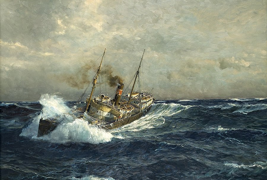 Old Ship Oil Paintings