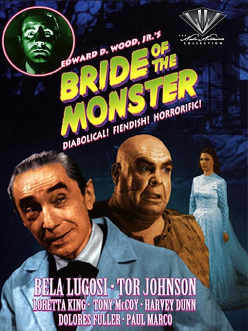 Em 1955  Ed Wood lan  231 ou seu primeiro filme de terror  A Noiva do    Ed Wood Bela Lugosi