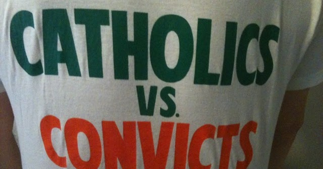 """University Of Miami Convicts >> Sports & Spirituality: Catholics vs. Convicts: The Story Behind ESPN's """"Shirt of the Century"""""""