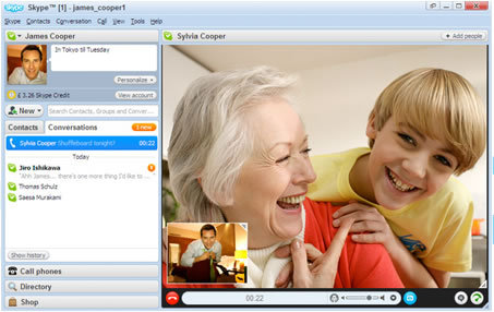 Download Skype and start calling for free all over the world.