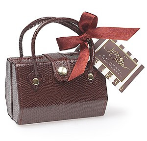 Sac chocolat imitation croco de Jessica Walker