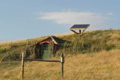 solar panel small shed