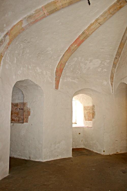 vaulting inside Deal Castle keep