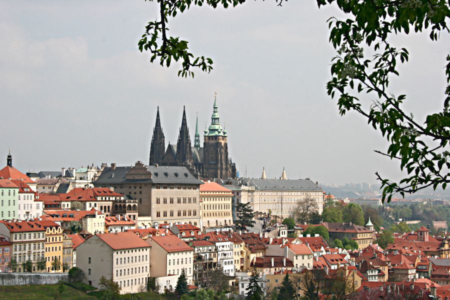 St Vitus Cathedral in castle complex viewed from Castle Gardens