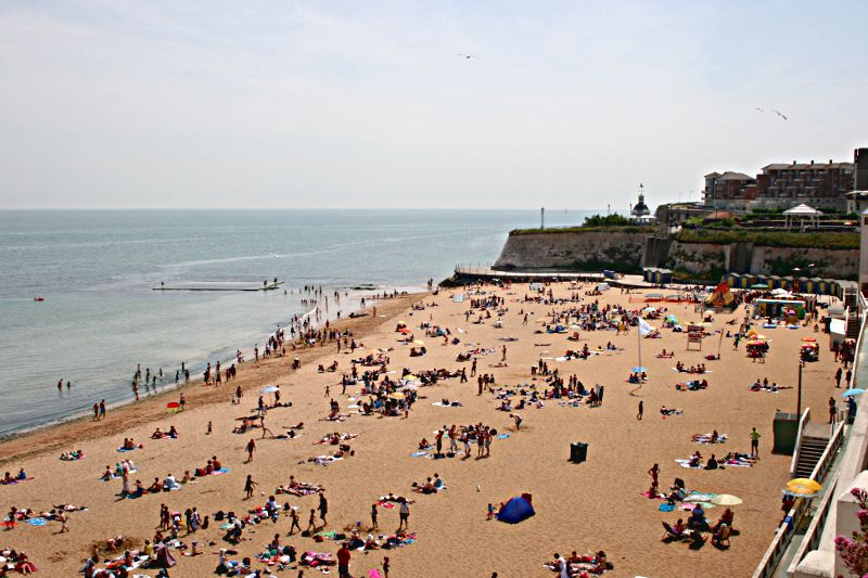 sandy beach at Broadstairs