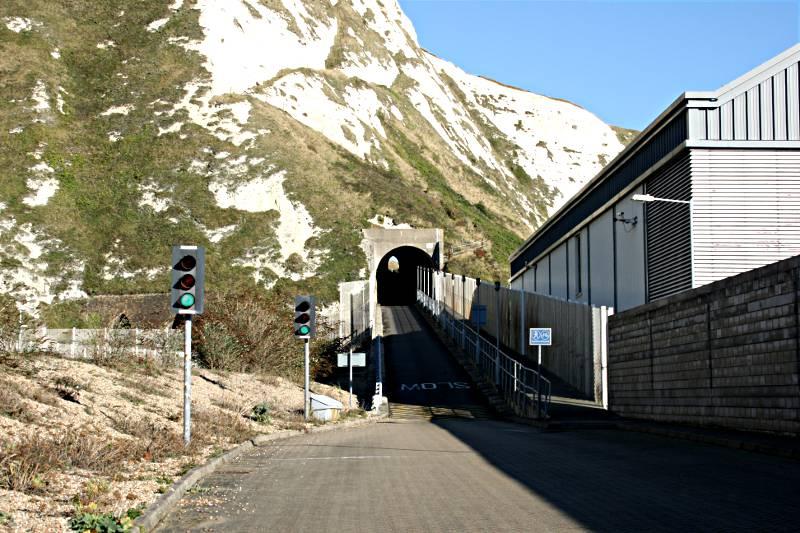 tunnels through cliffs