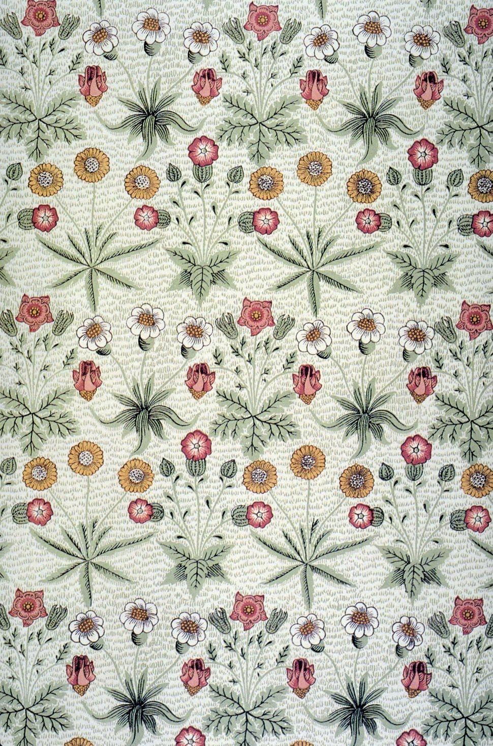 Daisy wallpaper designed by William Morris, 1864