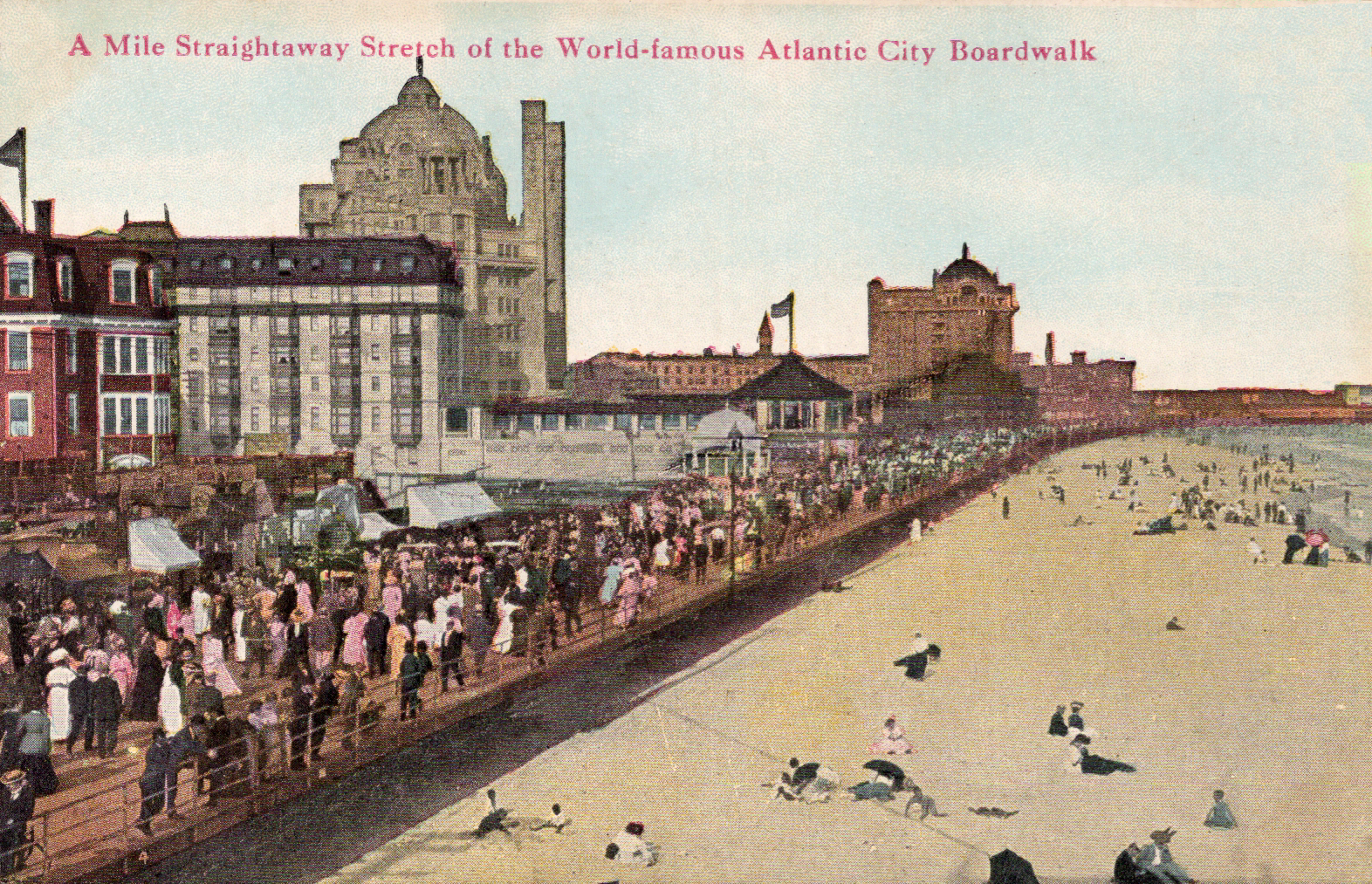 1913 Postcard Atlantic City New Jersey Vintage