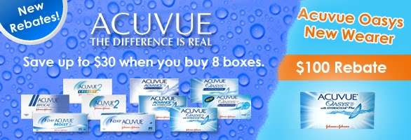 Acuvue Oasys with Hydraclear contact lenses